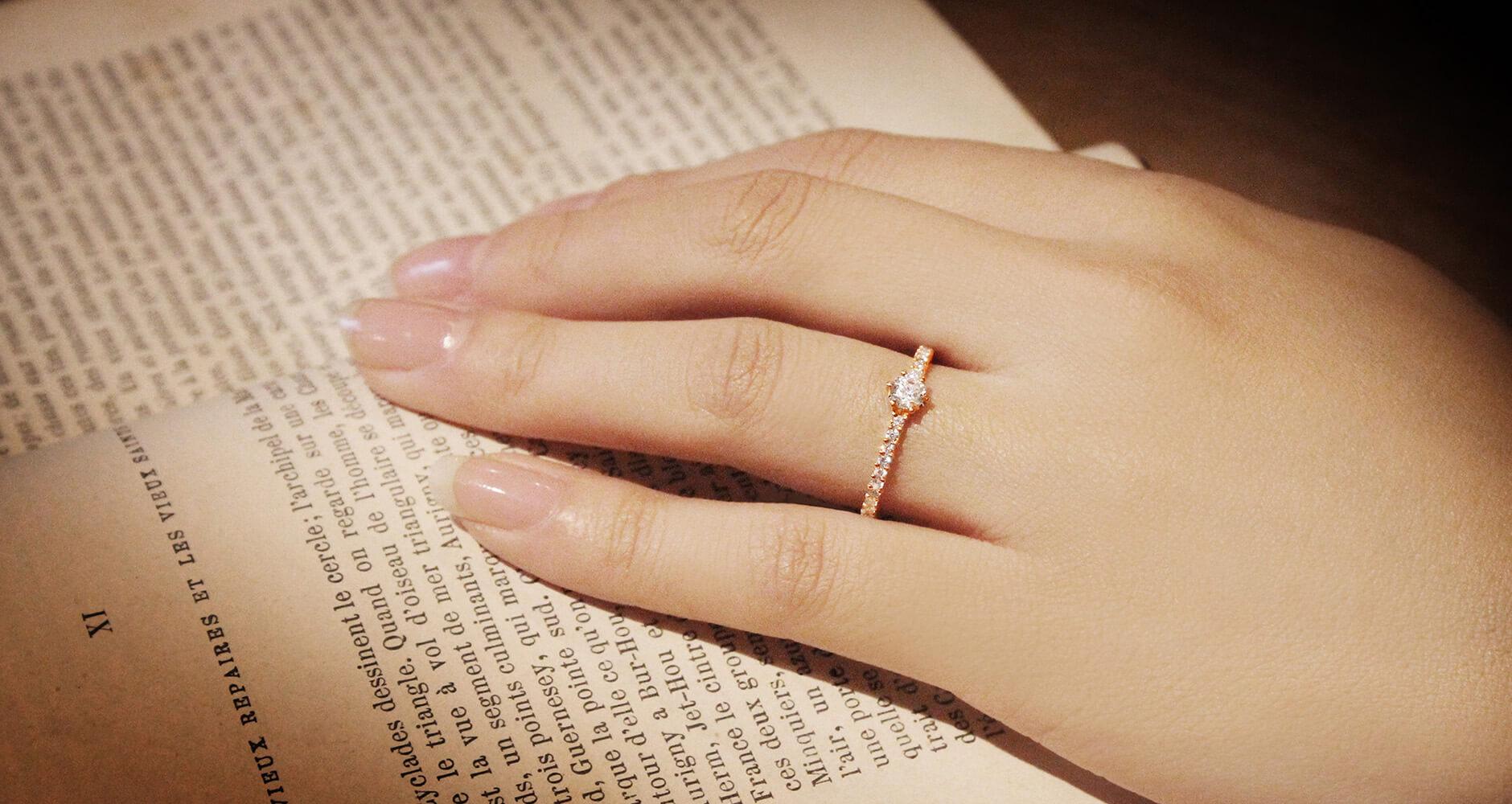 婚約指輪 オーダーメイド ダイヤモンド 沢山
