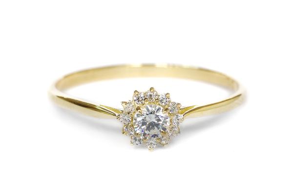 エンゲージリング(婚約指輪)her038