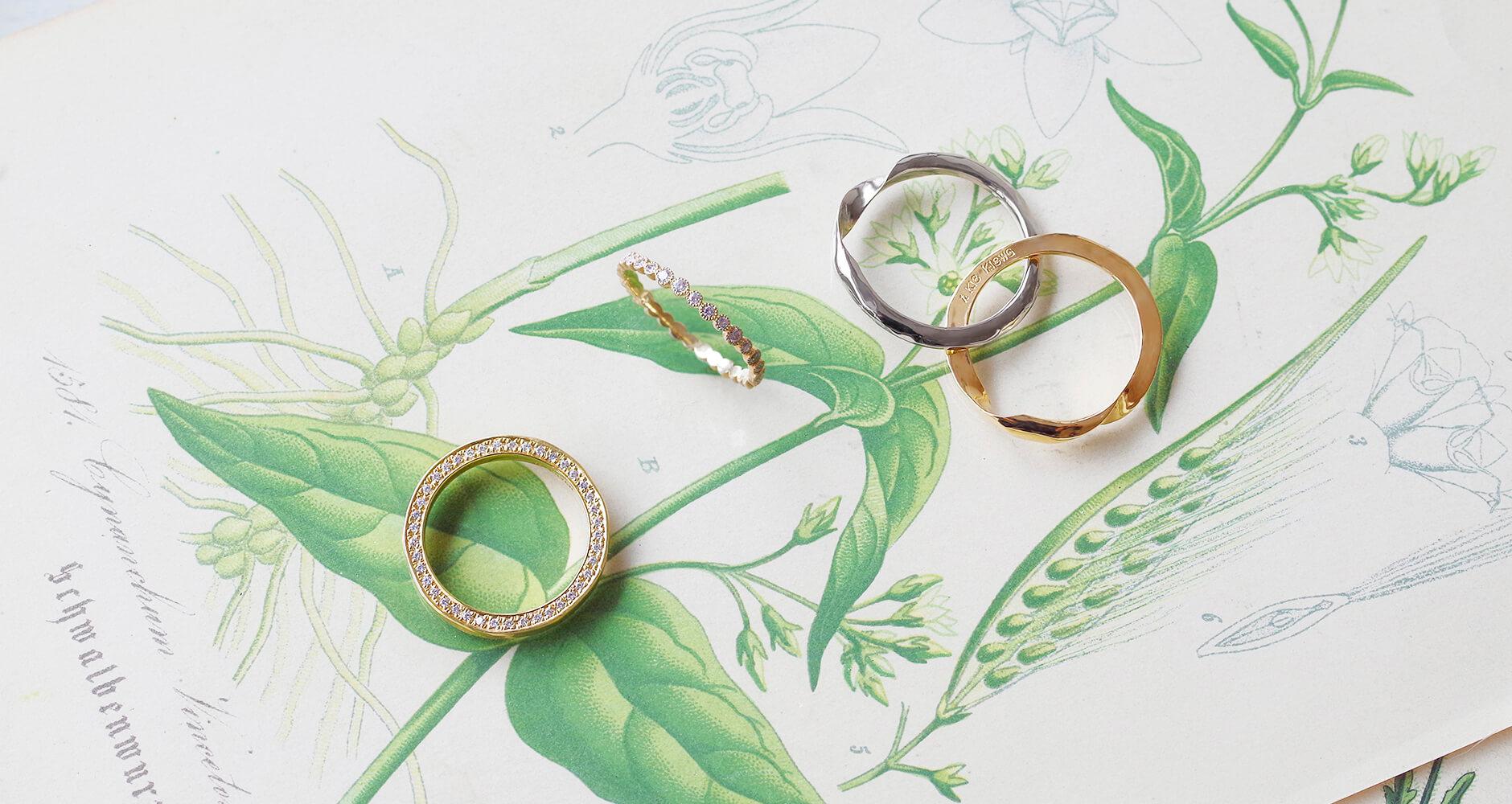 ダイヤの指輪とギメルリング