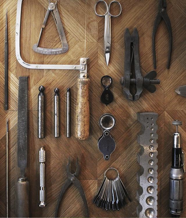 手作りの指輪制作に必要な色々な工具たち