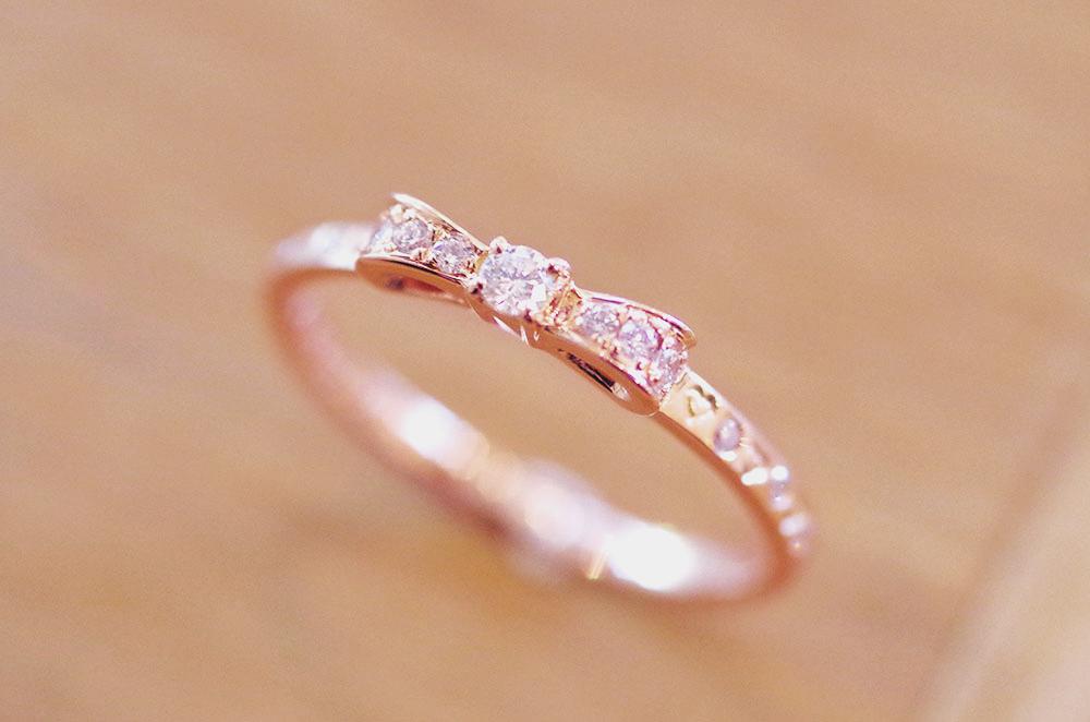 婚約指輪 オーダーメイド リボン