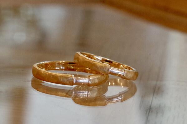 想い出のリングを使った結婚指輪