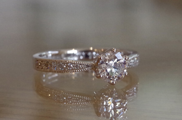 0.514カラットの大振りな婚約指輪