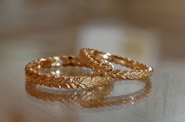 月桂樹の冠の結婚指輪