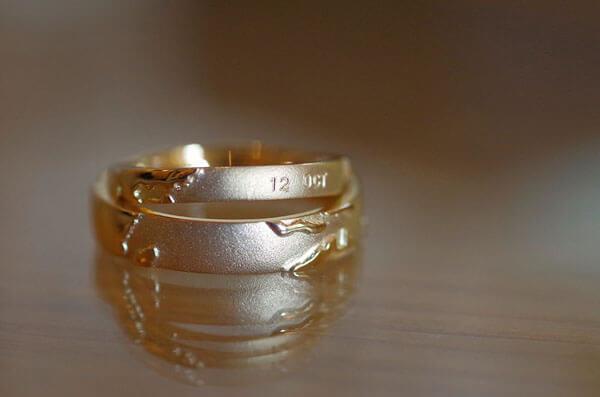 世界地図をモチーフにした結婚指輪