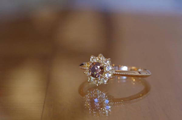 ひまわりの婚約指輪