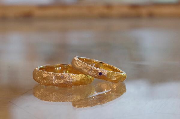 レティキュレーション加工の結婚指輪
