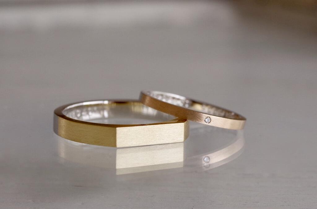 コンビの印台の結婚指輪