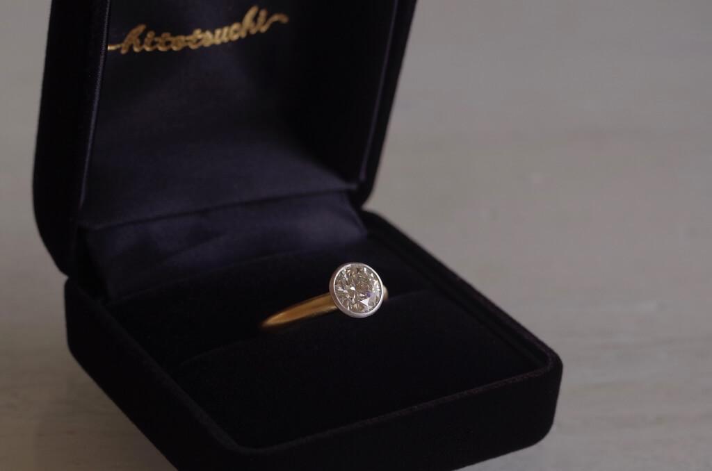 1.024カラットの大振りな婚約指輪
