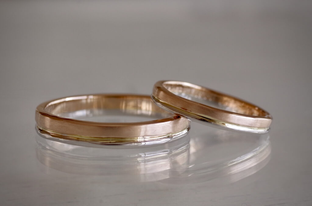 2連風コンビの結婚指輪