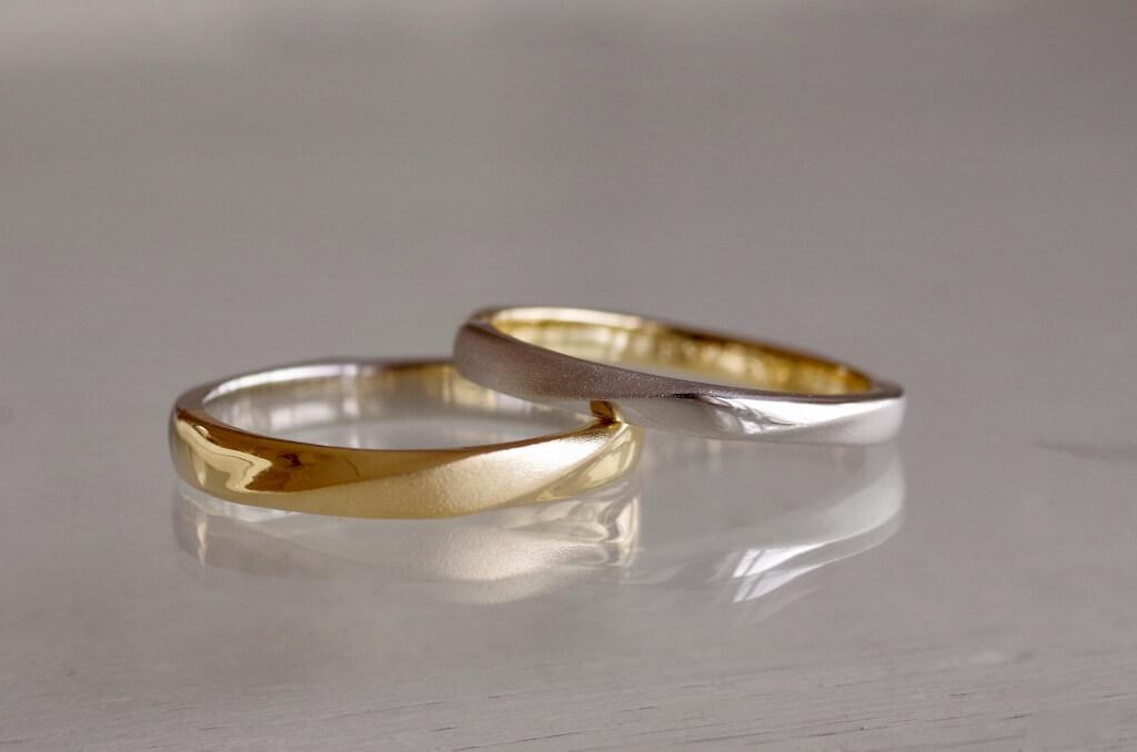 両面が正面の結婚指輪