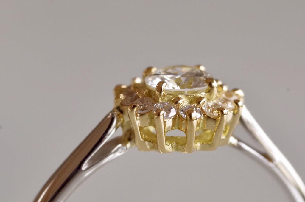 取り巻きのコンビの婚約指輪