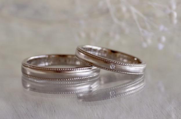 王道なミルグレインの結婚指輪