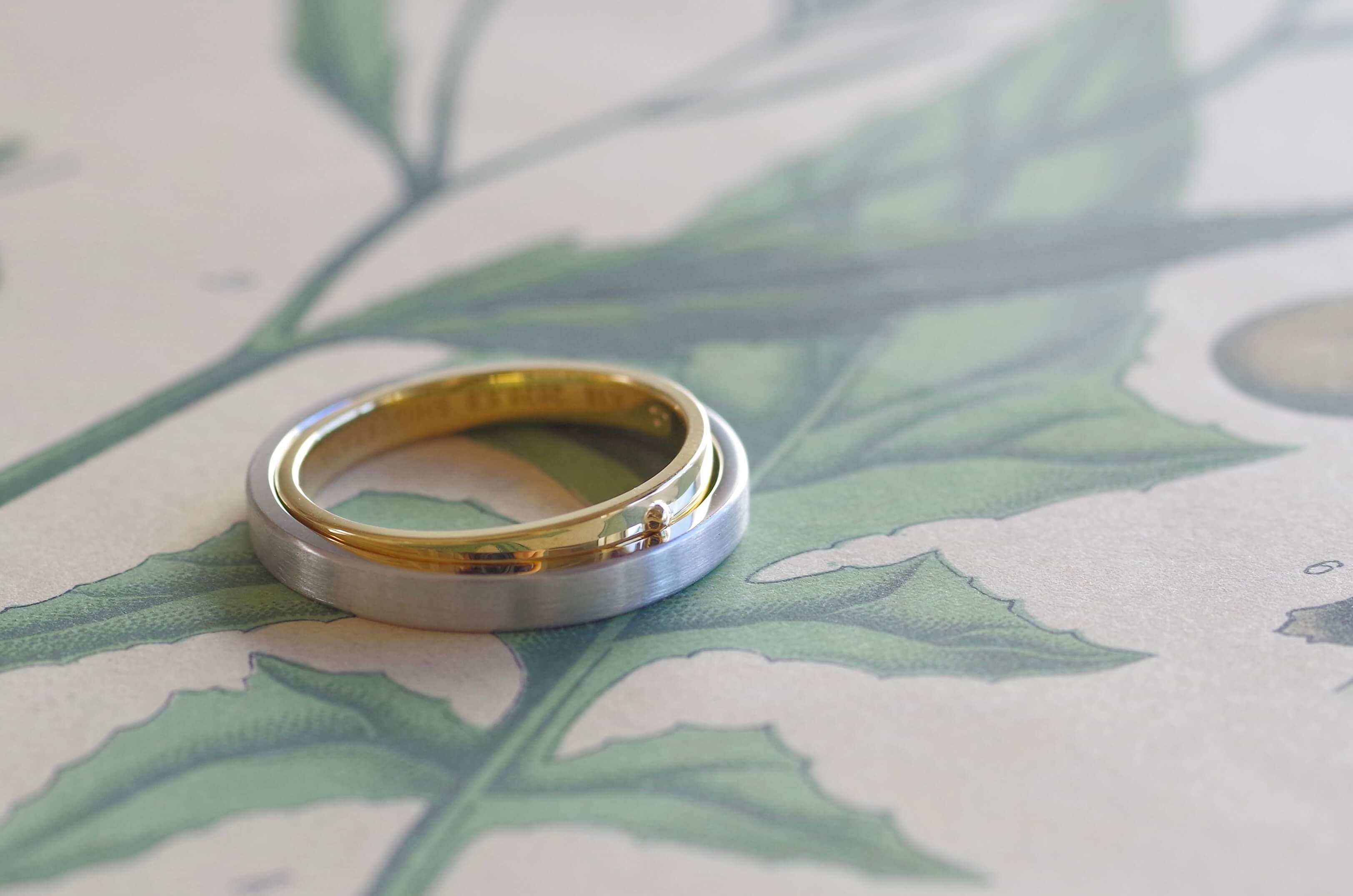 2本が一つになるフルオーダーメイド の結婚指輪