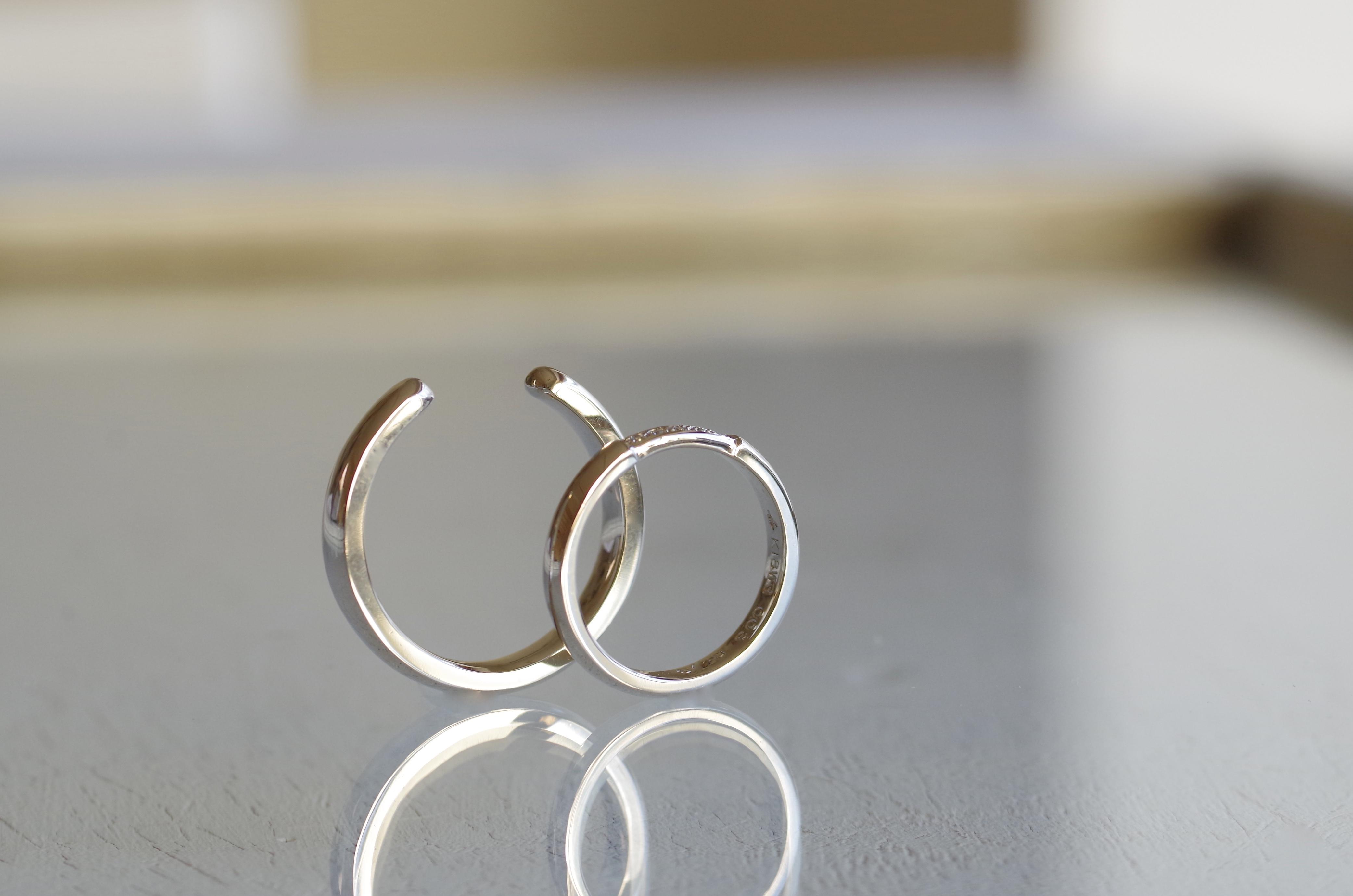 C型の結婚指輪