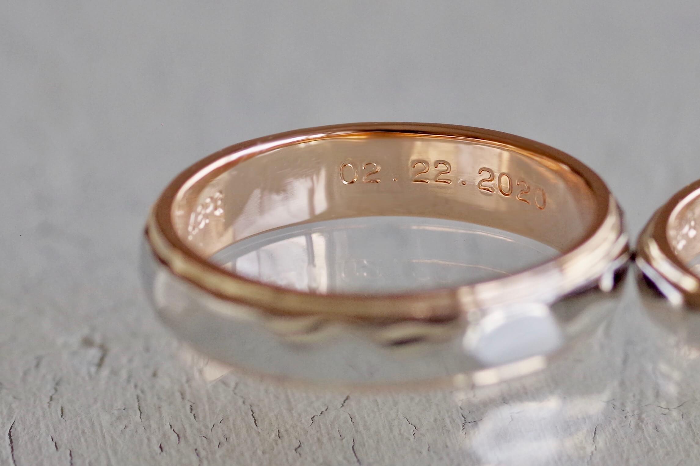 結婚指輪 オーダーメイド 刻印