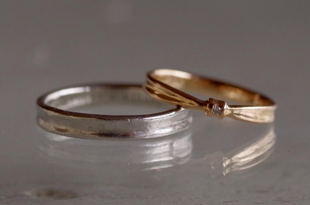 結婚指輪 オーダーメイド クリーニング前