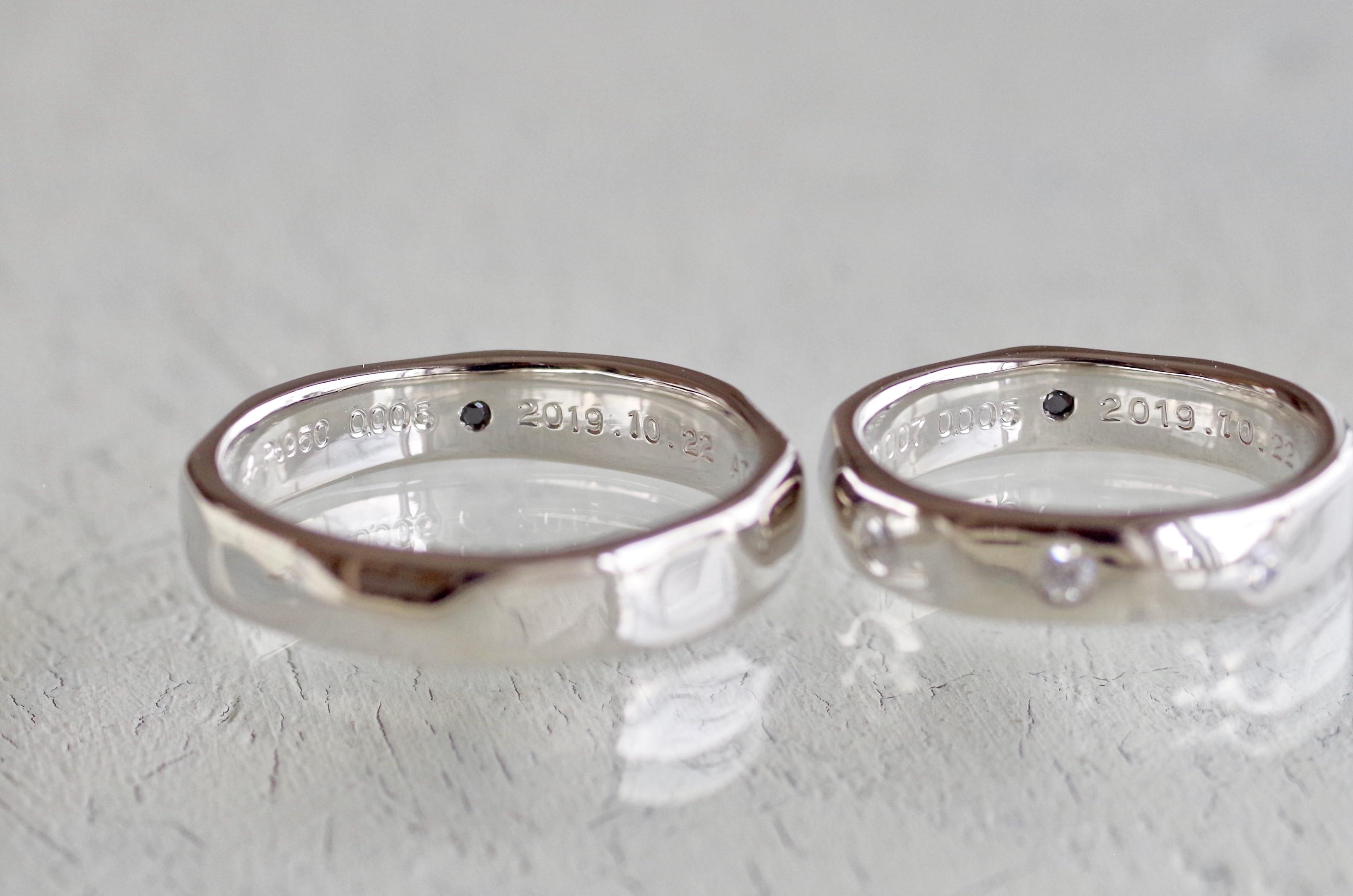 槌目 結婚指輪 オーダーメイド