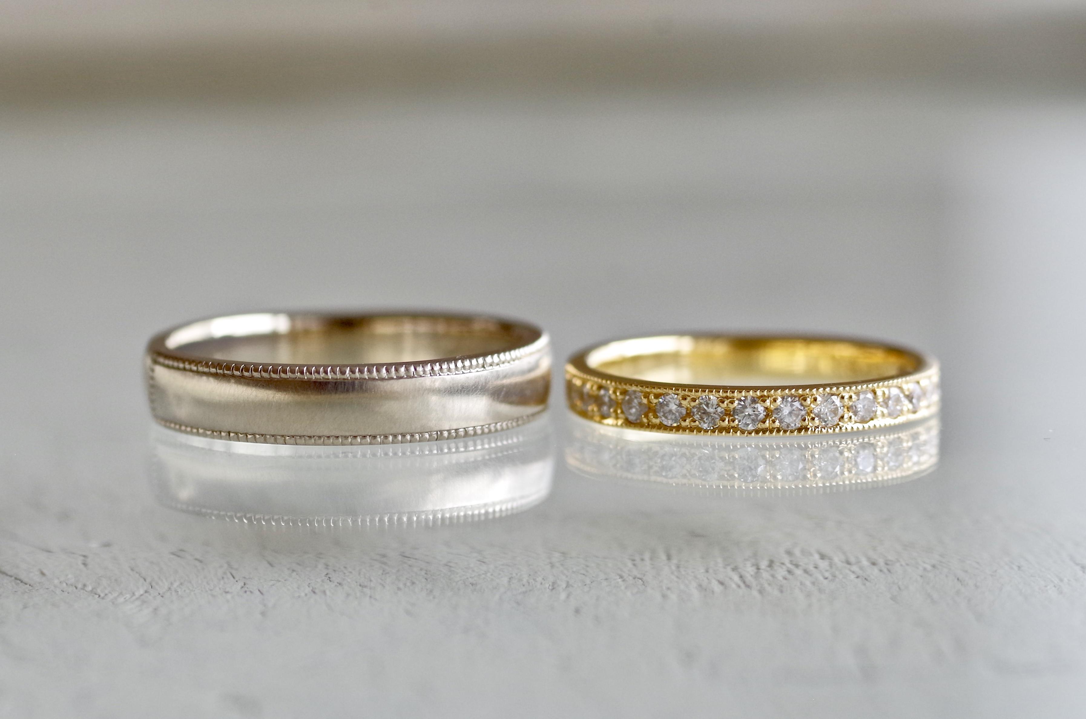 イニシャル オーダーメイド 結婚指輪