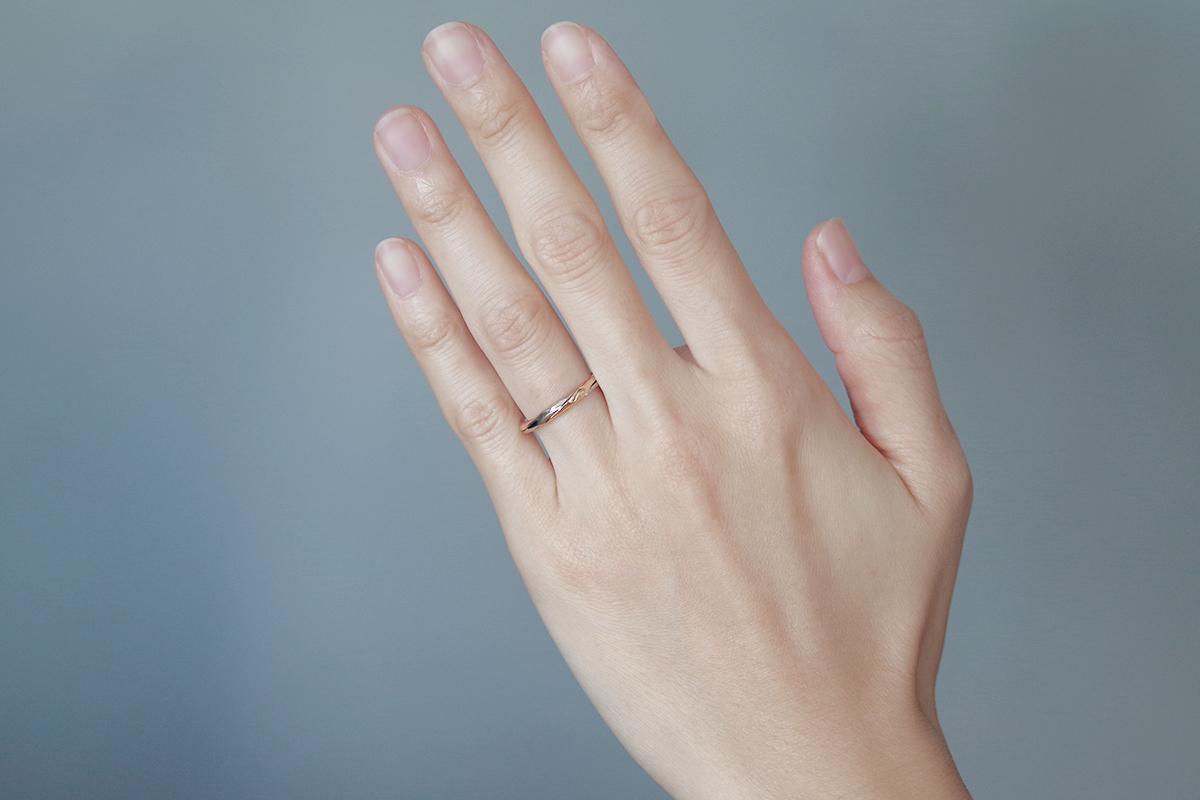 結婚指輪 オーダーメイド ギメルリング コンビネーション