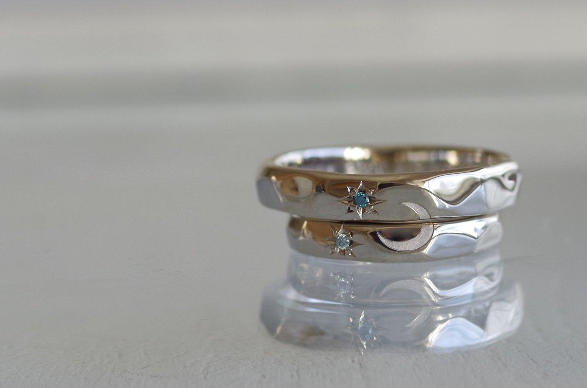地球と月の結婚指輪