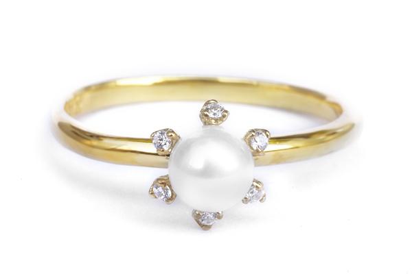 婚約指輪 オーダーメイド パール