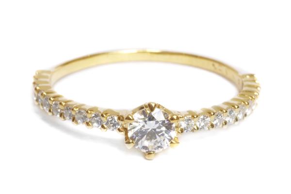 婚約指輪 オーダーメイド ハーフエタニティ