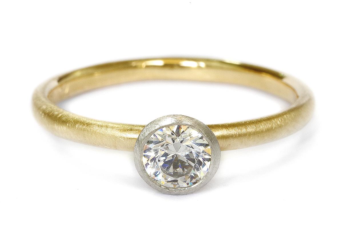 婚約指輪 オーダーメイド シンプル コンビネーション