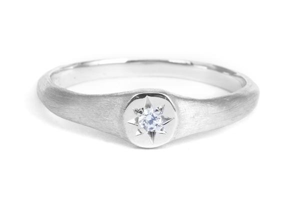 結婚指輪 オーダーメイド シグネットリング 印台
