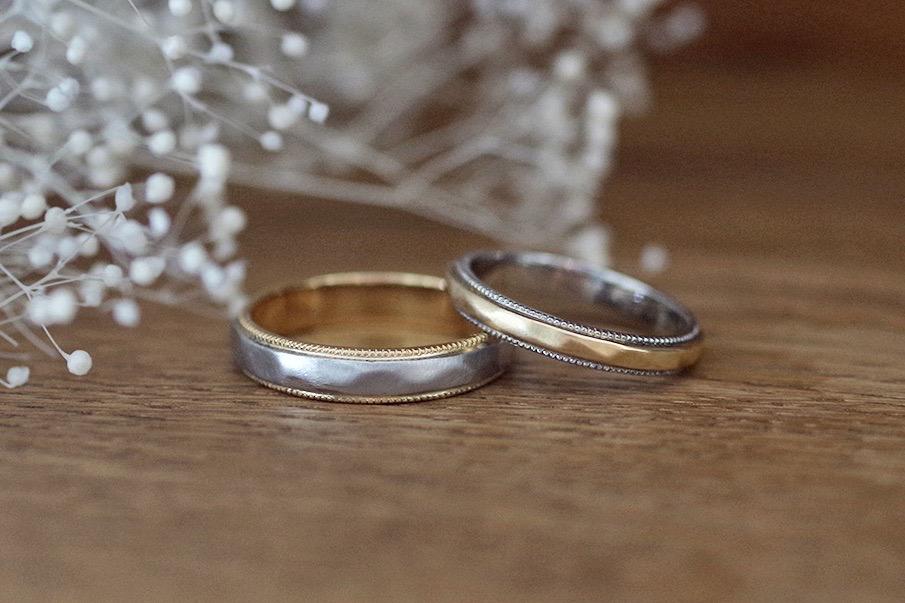 結婚指輪 オーダーメイド 槌目加工