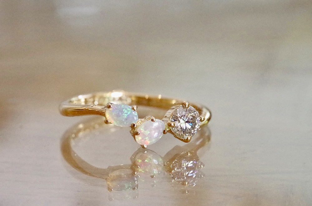 婚約指輪 オーダーメイド オパール