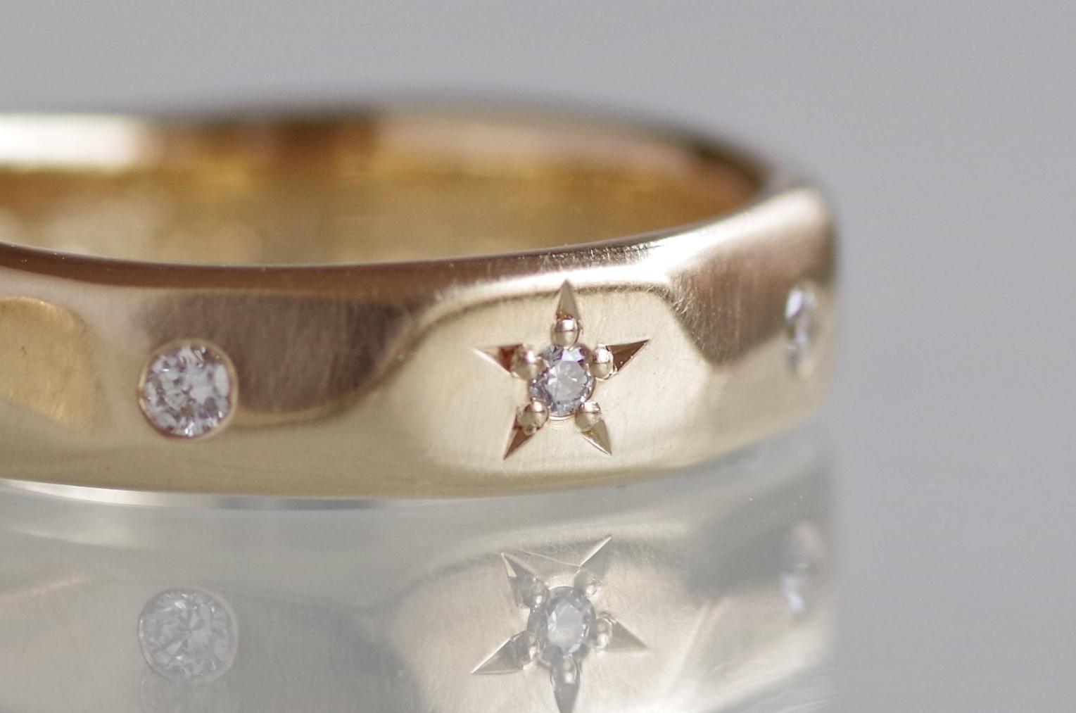 結婚指輪 オーダーメイド 星留め