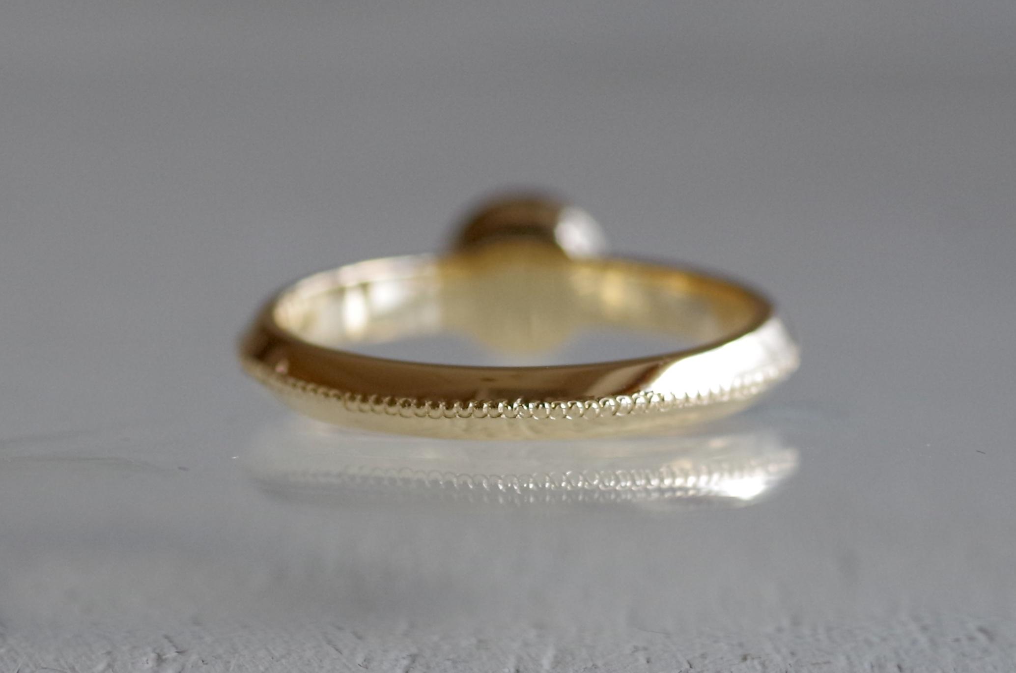 婚約指輪 オーダーメイド ミルグレイン