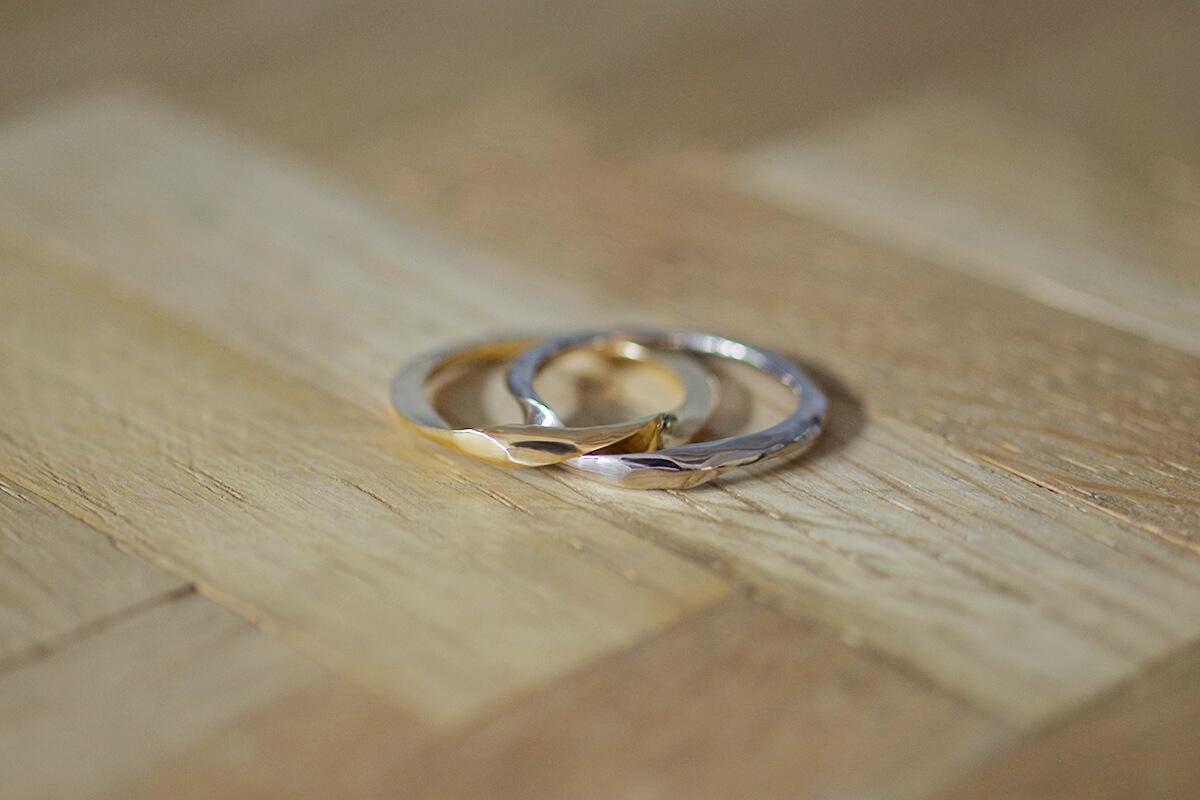 結婚指輪 オーダーメイド コンビネーション ギメルリング