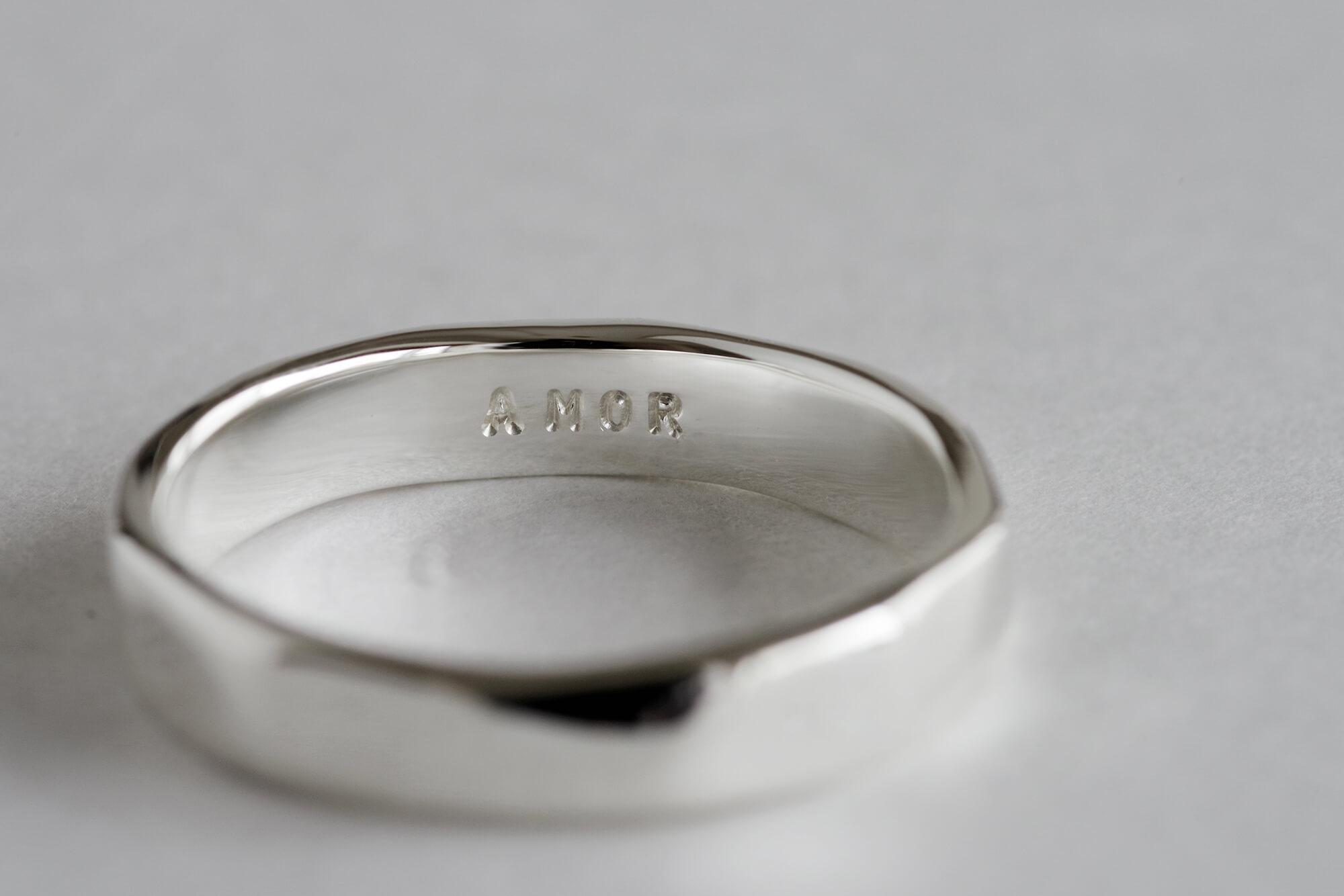 結婚指輪 オーダーメイド 刻印 ラテン語 AMOR
