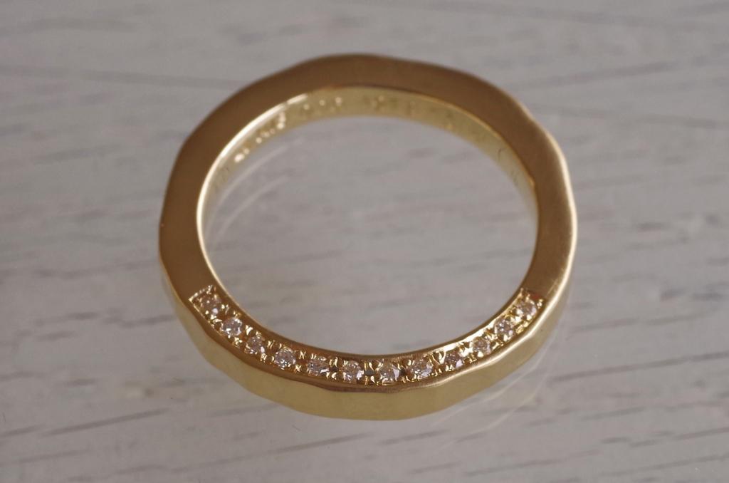 結婚指輪 オーダーメイド ダイヤモンド追加 側面