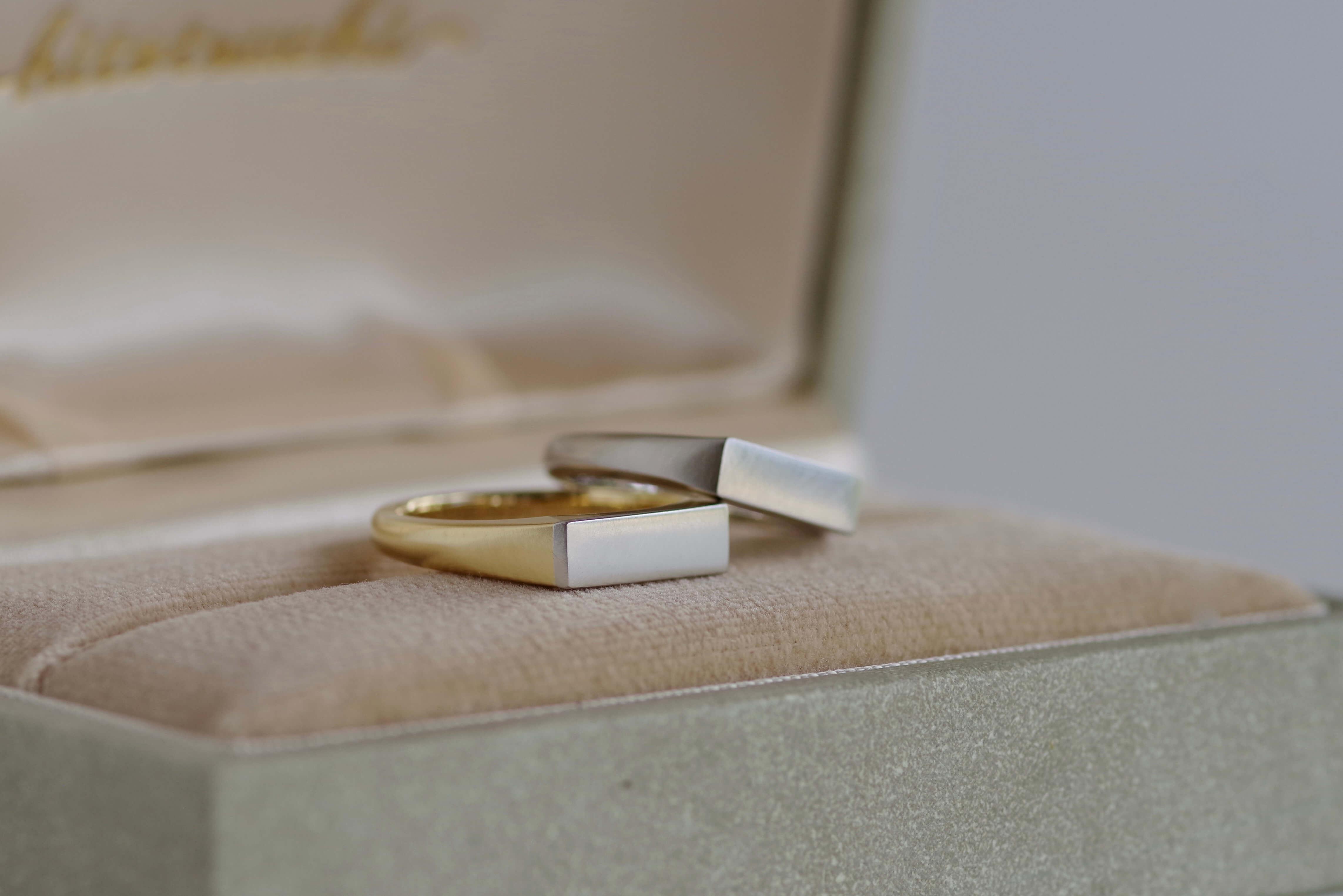 結婚指輪 オーダーメイド 印台