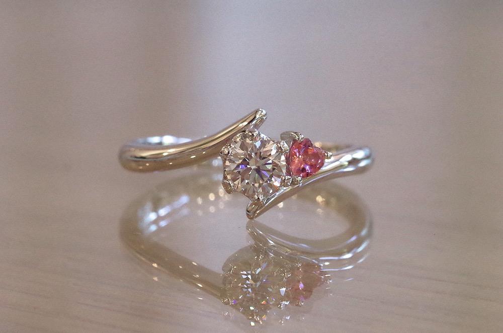 結婚指輪 オーダーメイド 10月の誕生石 トルマリン
