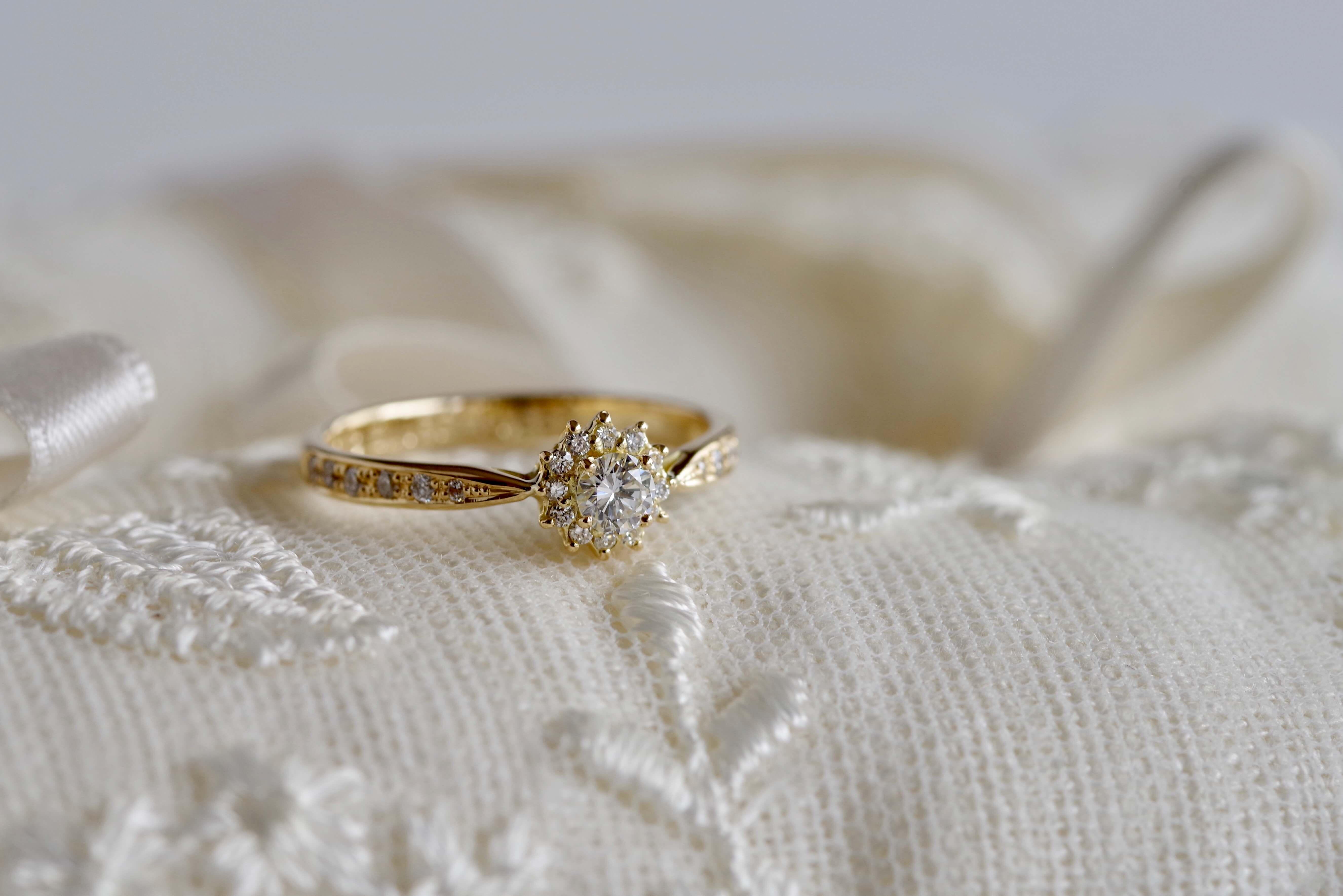 婚約指輪 オーダーメイド 取り巻き