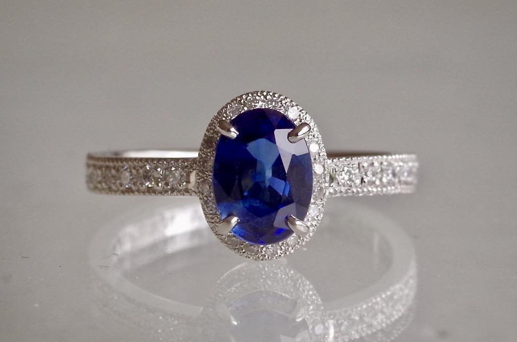 婚約指輪 オーダーメイド サファイア 誕生石