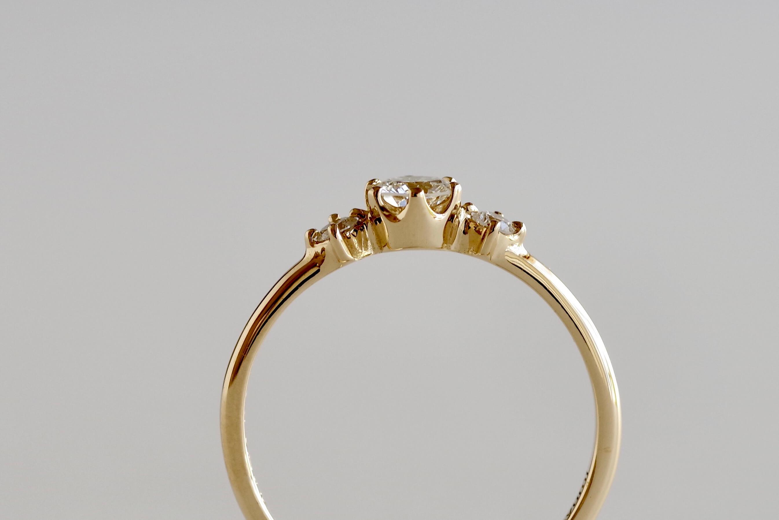 婚約指輪 オーダーメイド サイドメレタイプ