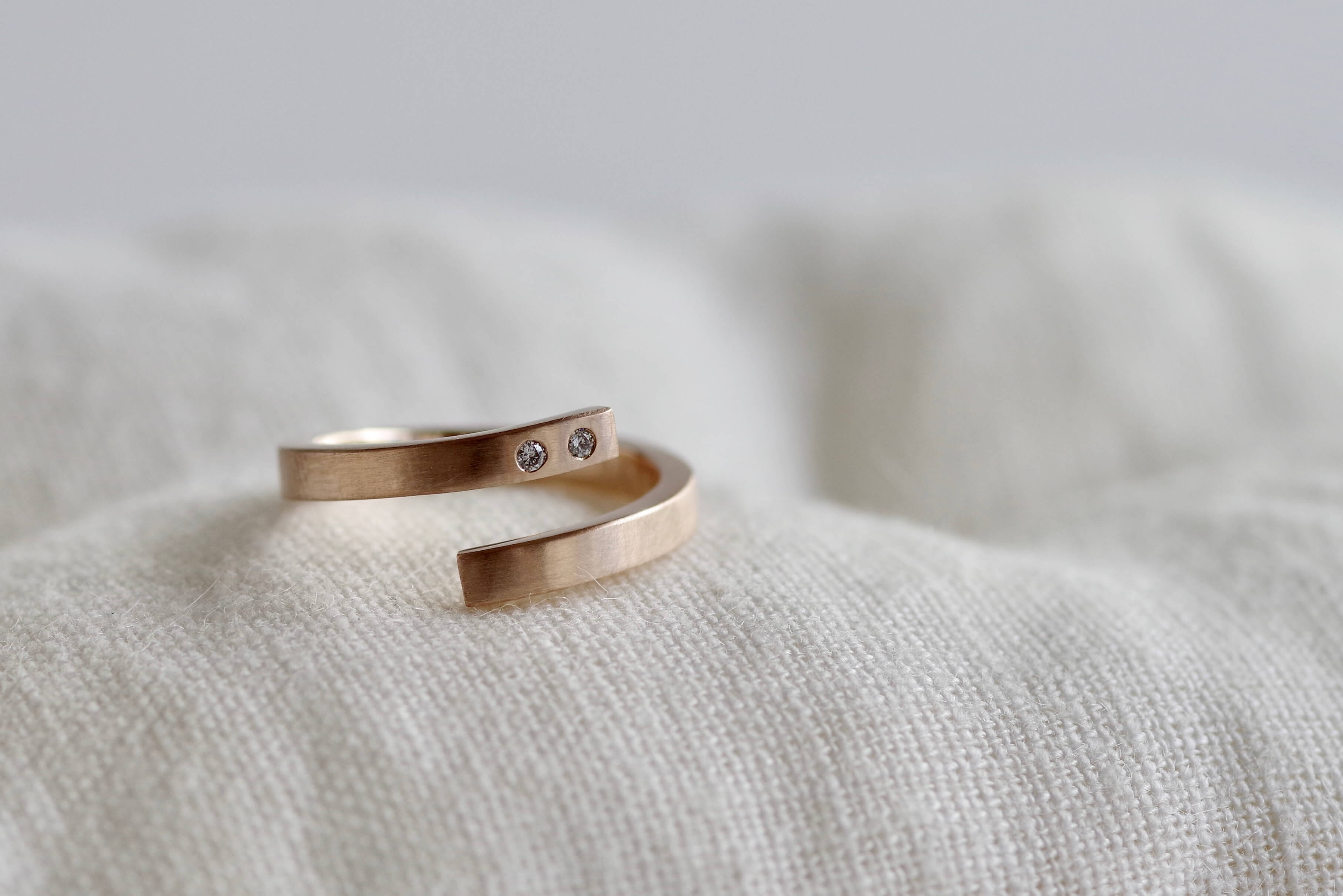 オーダーメイド 婚約指輪 平打ち