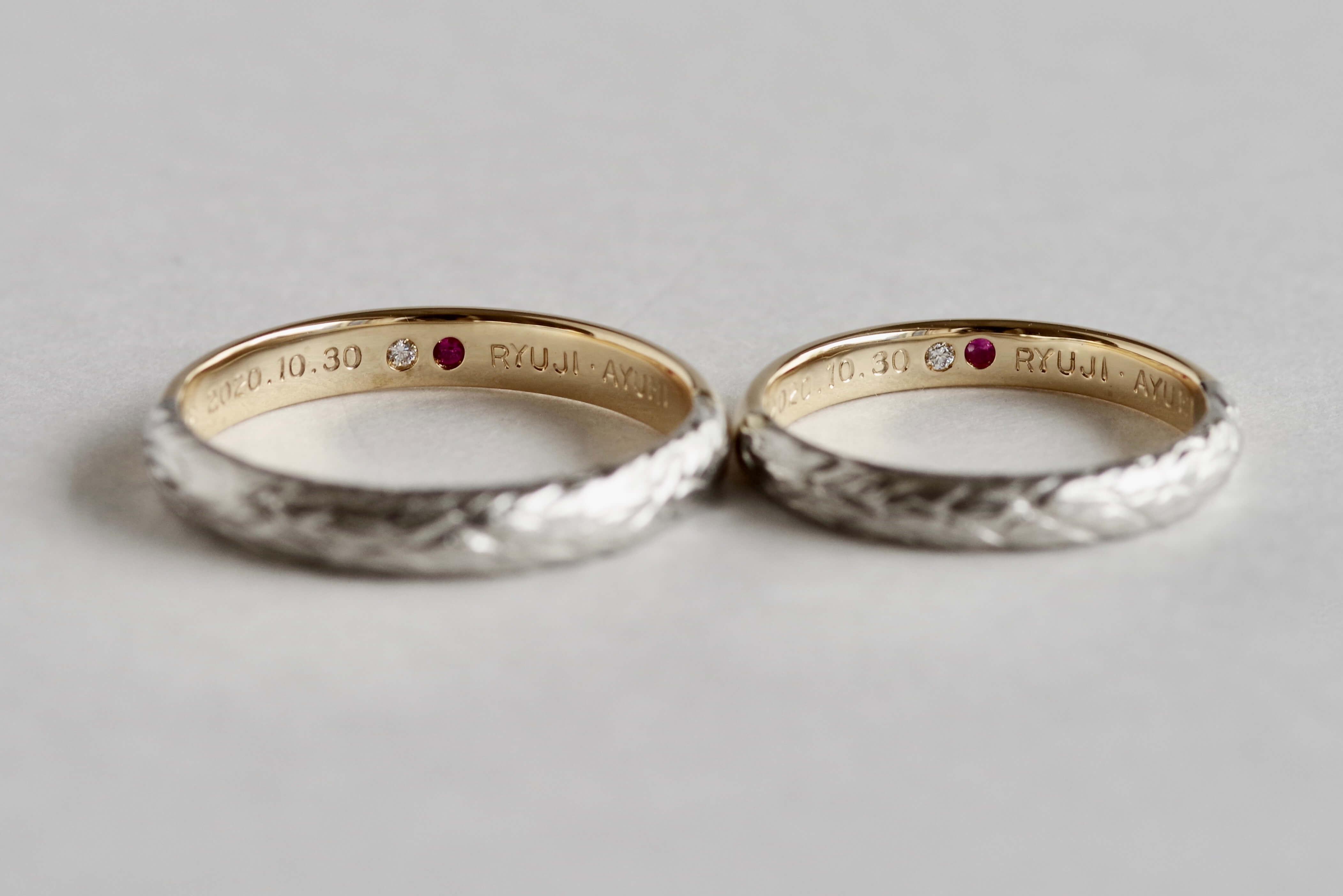 結婚指輪 オーダーメイド 双子ダイヤ