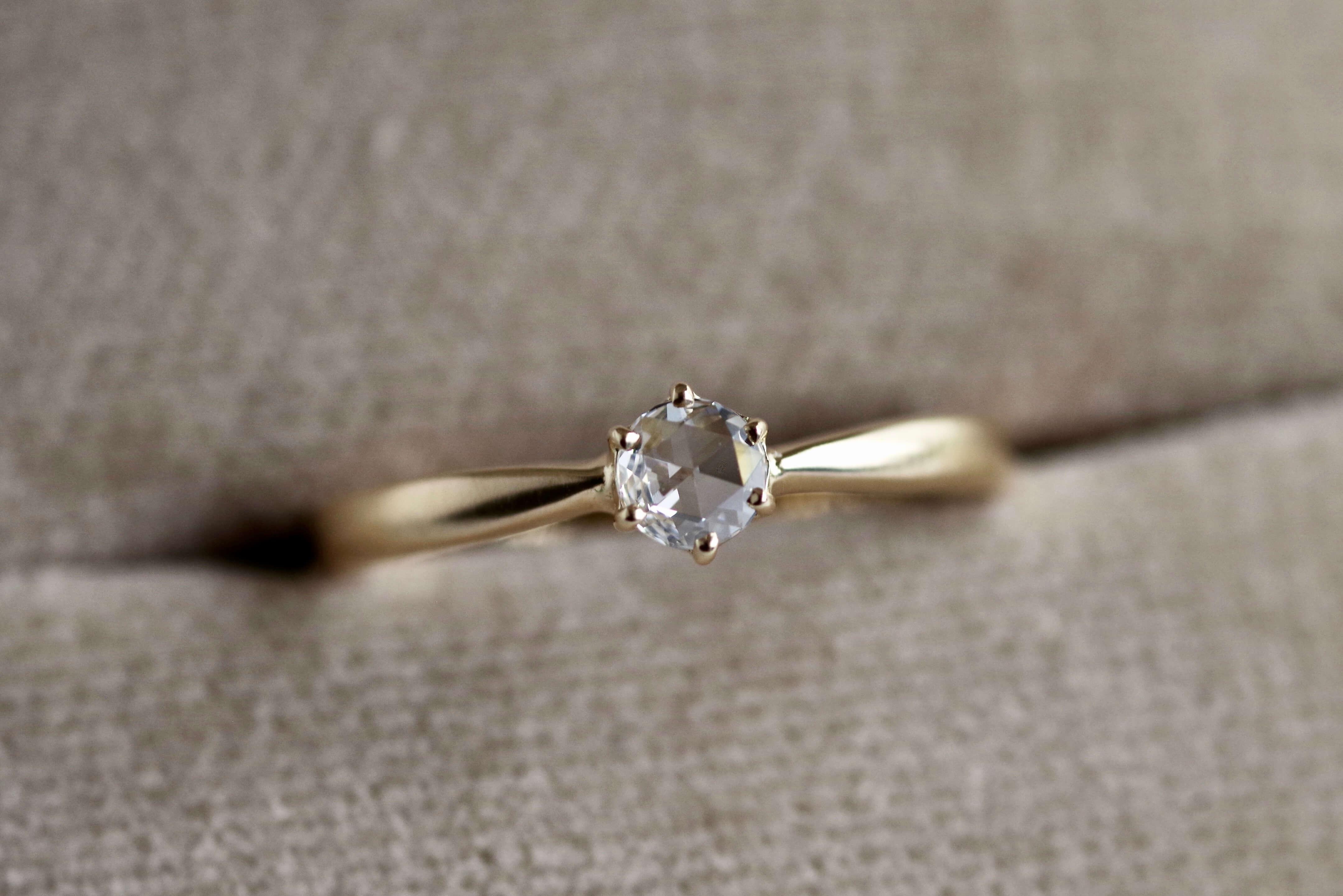 婚約指輪 オーダーメイド ローズカットダイヤ
