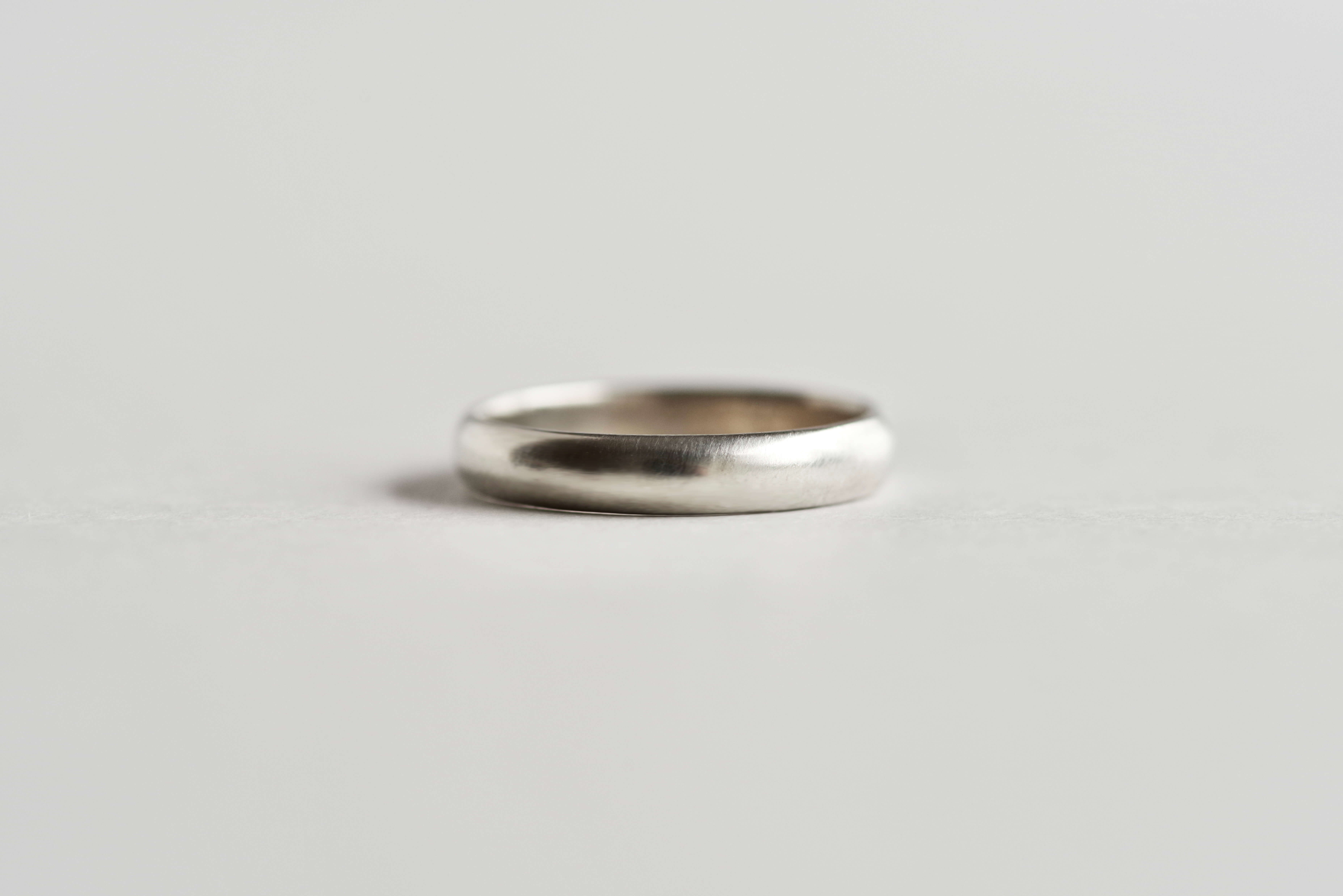 シンプル 結婚指輪 比較 甲丸 平打ち 平甲丸 指馴染み