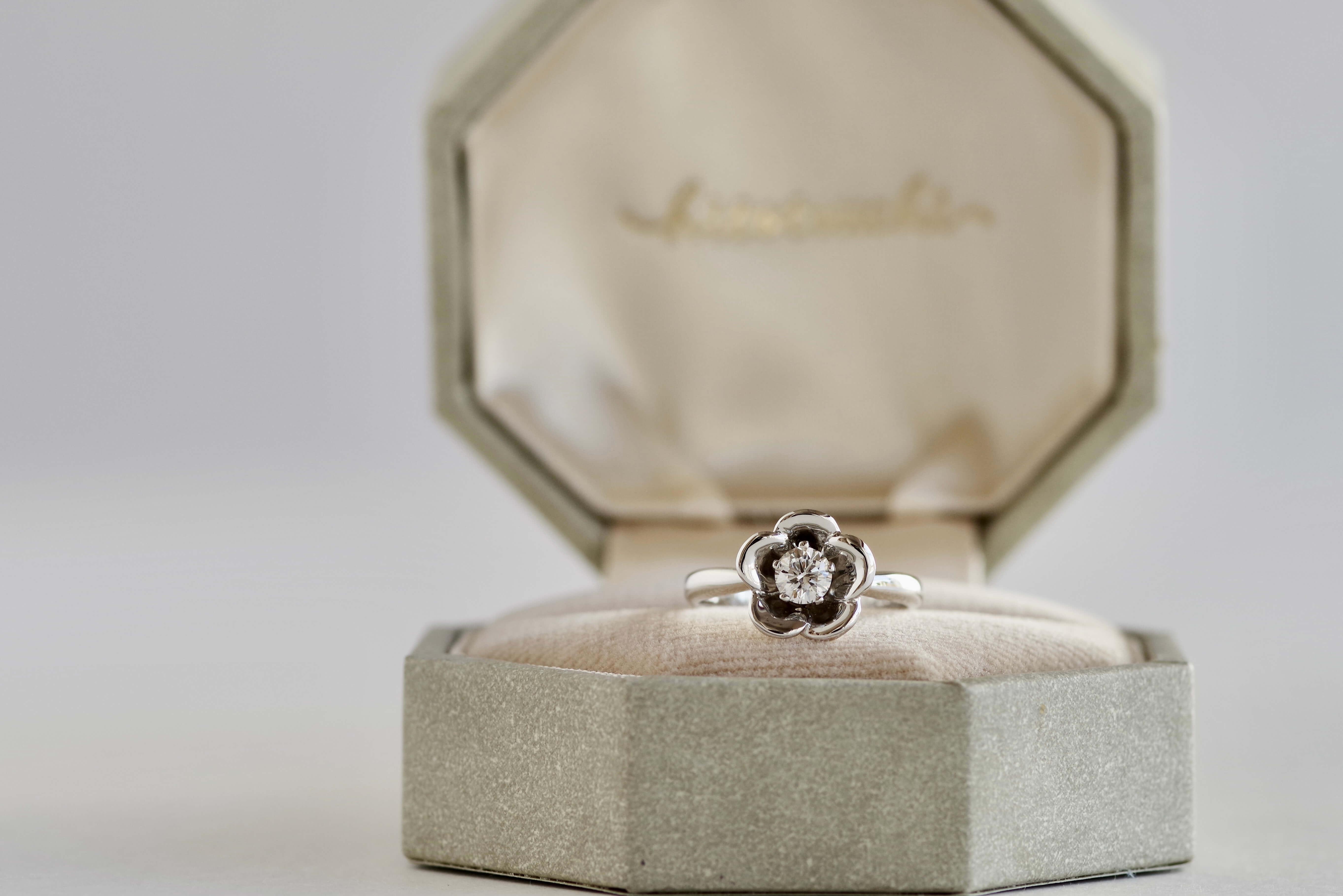 婚約指輪 オーダーメイド 杏の花