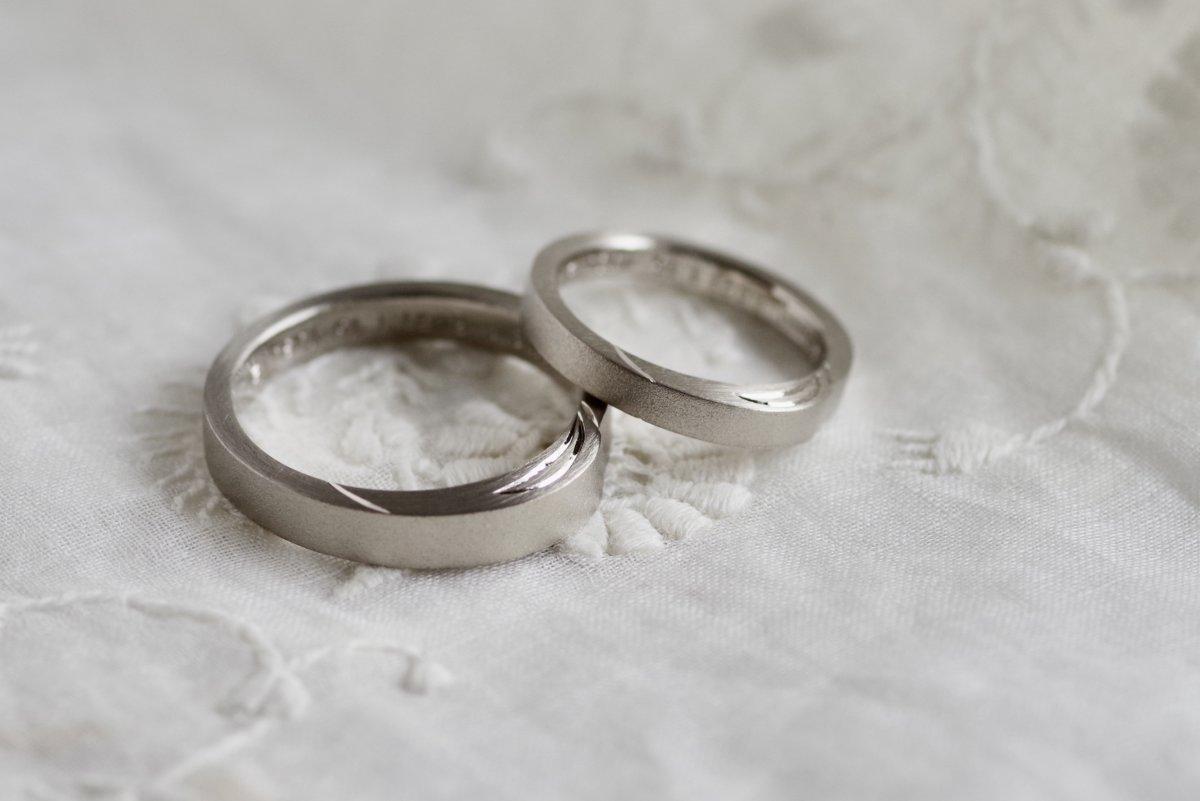 キャンドルの火を灯した結婚指輪