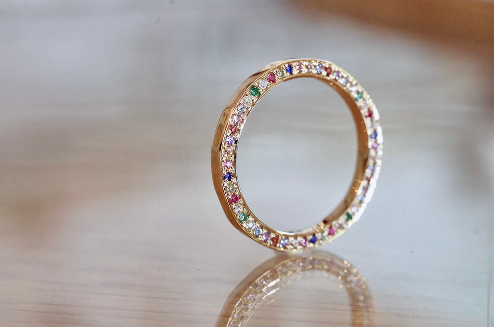 結婚指輪 オーダーメイド アクロスティックリング