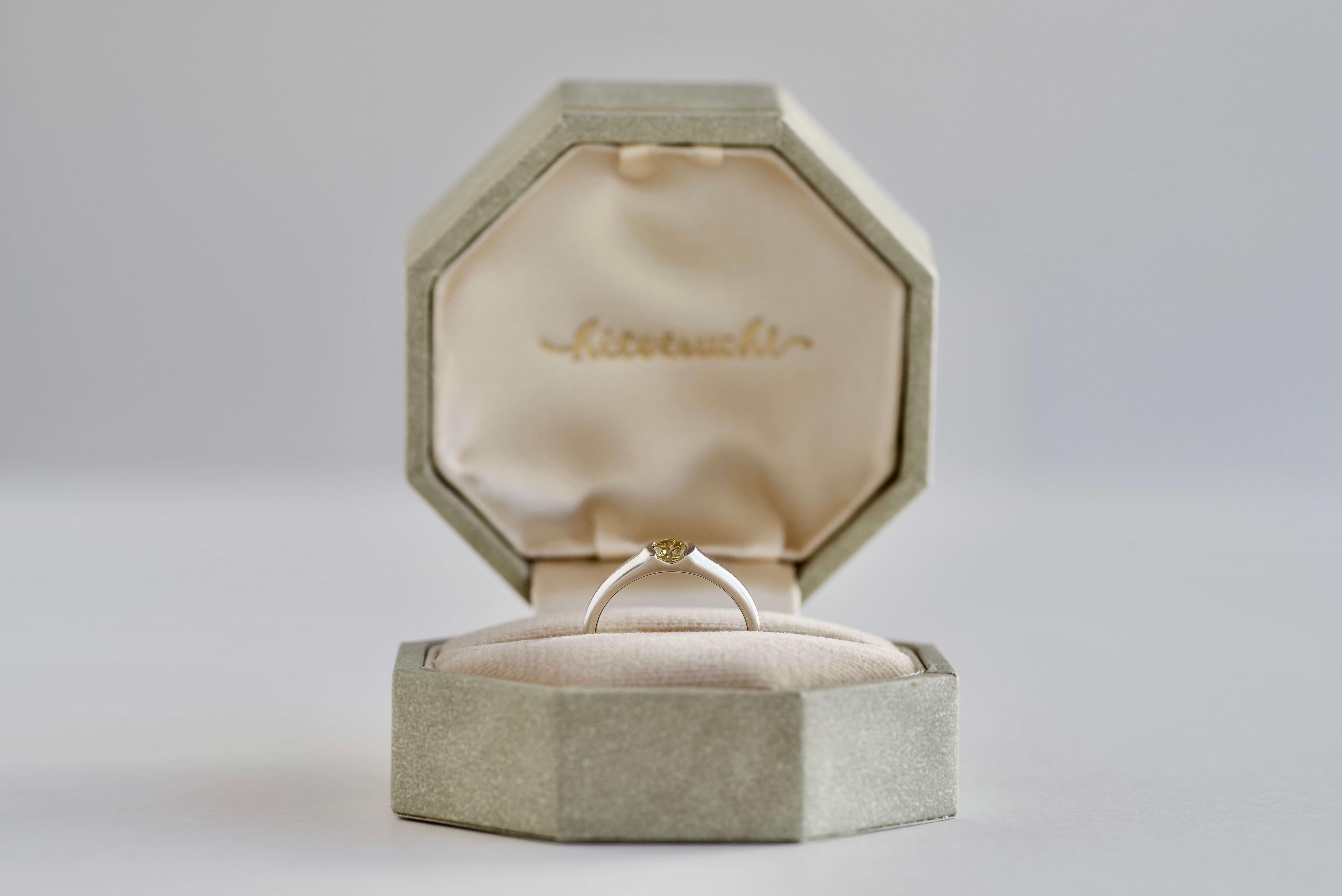 婚約指輪 オーダーメイド イエローダイヤモンド