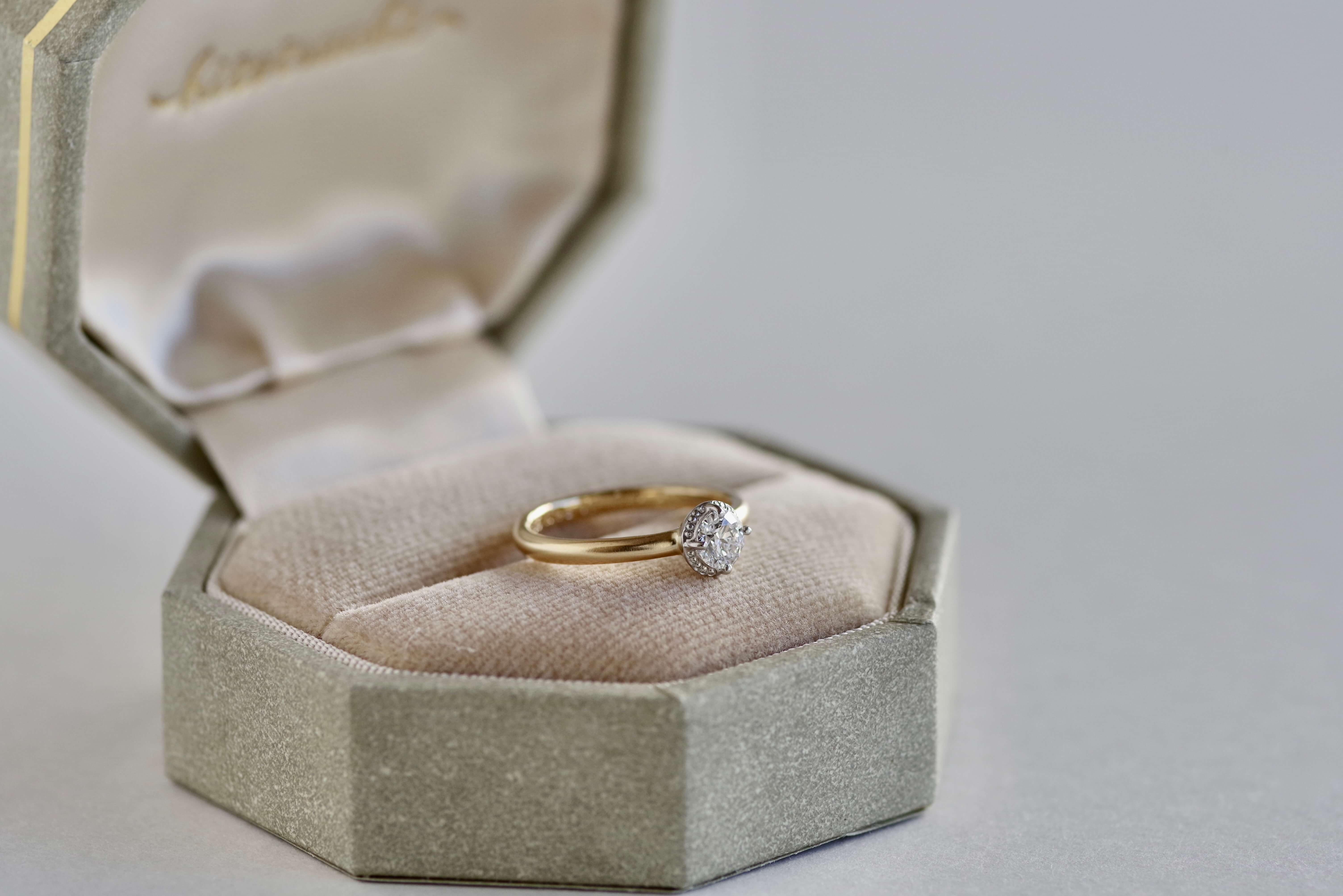 婚約指輪 オーダーメイド ミル打ち